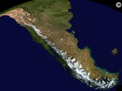 Chinchilla Habitat - Aerial shot of The Andes Mountain Range.