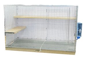 Chinchilla Cage - Standard wired bottom chinchilla cage with removeable tray for easy cleaning.