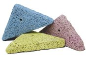 Shapes made from pumice stone and dyed with natural food colouring adds variation to chinchillas usual gnawing toys.